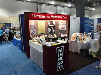 University of Minnesota Press - 2008 conference booth
