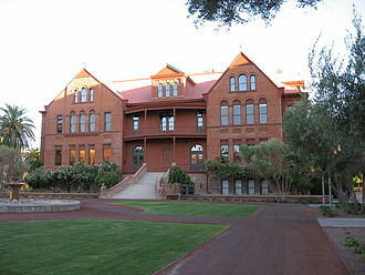 History of Arizona State University - Old Main on the Tempe campus