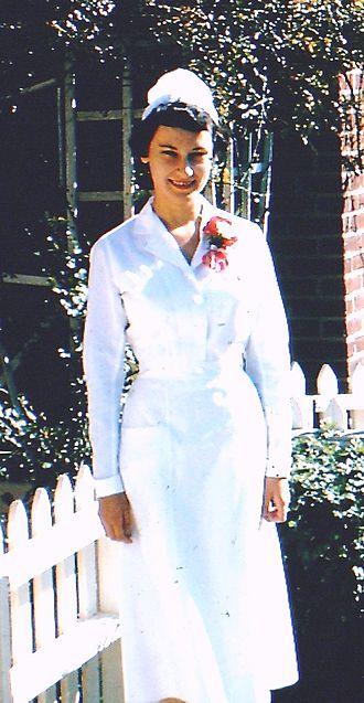 Alma S. Woolley - Alma Woolley on graduation day, Cornell University's School of Nursing, 1954