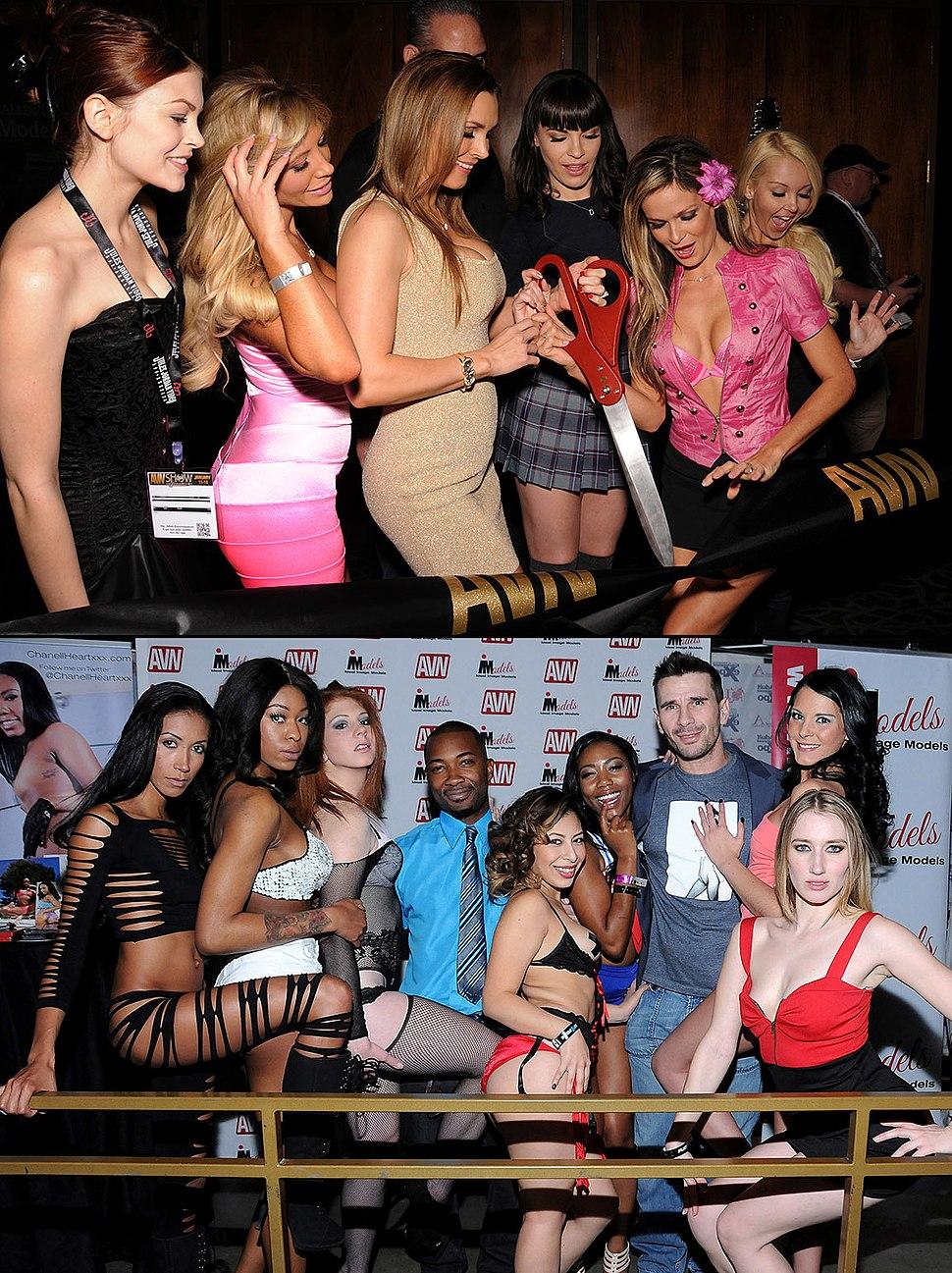 AVN Expo Ribbon Cutting and Models Hard Rock Hotel 2014