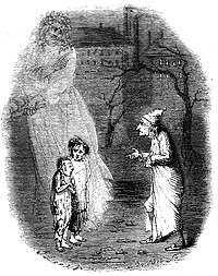 "Ebenezer Scrooge encounters  ""Ignorance"" and ""Want"" in A Christmas Carol"
