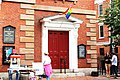 A Pride Flag outside the Historic North Church in Portsmouth New Hampshire.jpg