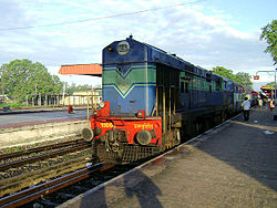 loco at Gudivada Train station