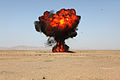 A detonation erupts as U.S. Marines with the 1st Explosive Ordnance Disposal Company, Combat Logistics Regiment 2 conduct a demolition operation in Helmand province, Afghanistan, March 17, 2013 130317-M-KS710-210.jpg