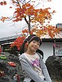 A girl at Mount Asama, Gunma, Japan, in autumn season; October 2011.jpg