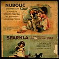A girl washing a dog as an advertisement for Nubolic soap. C Wellcome V0010808.jpg