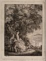 A lady and two children with a dog under a tree in a country Wellcome V0044513.jpg
