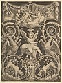 A panel of ornament with a putto in the centre holding a windmill MET DP824497.jpg