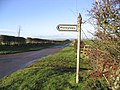 A signpost for Moneylaws - geograph.org.uk - 301546.jpg
