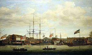 Francis Holman - A small shipyard on the Thames, by Francis Holman, between 1760 and 1784