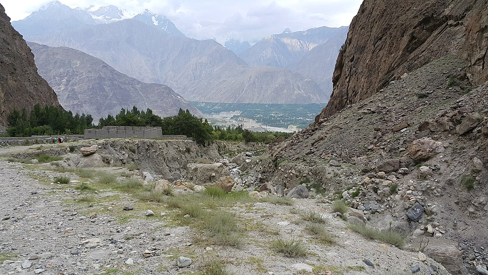 A view of Gilgit City from Jutial Nala