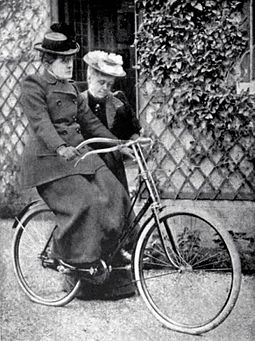 """Let go - but stand by""; Frances Willard learning to ride a bicycle. A wheel within a wheel page 56.jpg"