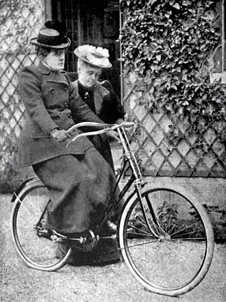 "Frances Willard - ""Let go — but stand by""; Frances Willard learning to ride a bicycle"