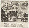Aankomst van koning Karel II van Engeland te Den Haag, 1660 A Poetical Discription of the Batavian Court (titel op object), RP-P-OB-81.886.jpg