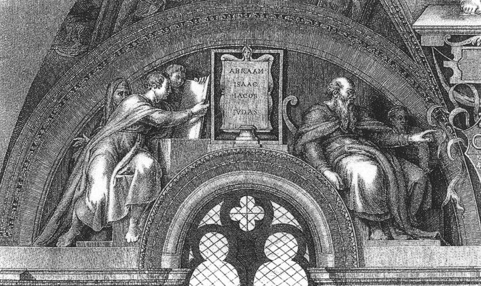 Abraham - Isaac - Jacob - Judah by Michelangelo Buonarroti