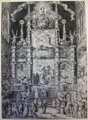 Abraham Santvoort after Alexander van Fornenberg, the high altar of the Brussels church of the Calced Carmelites during the feast of St Dorothea, 1640. Mixed technique (etching and burin). Prentenkabinet KBR, Brussels.png