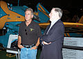 Actor Harrison Ford touring the Air Force Museum in Dayton, Ohio.JPG