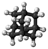 Ball-and-stick model of the adamantane molecule