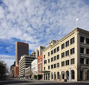 Currie Street, Adelaide - South side of Currie Street, looking east from Light Square