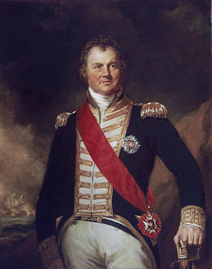 Edward Thornbrough - Admiral Edward Thornborough (Samuel Lane, 1821)
