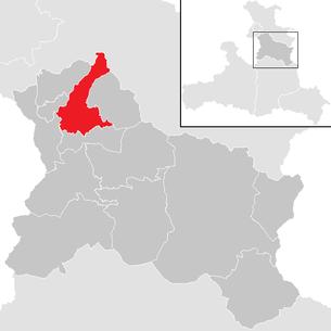 Lage der Gemeinde Adnet im Bezirk Hallein (anklickbare Karte)