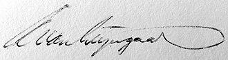 Adriaan van Wijngaarden - Image: Adriaan van Wijngaarden signature