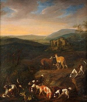 Adriaen Cornelisz Beeldemaker - Pack of dogs, 1660