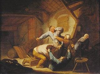 Peasants Fighting at an Inn