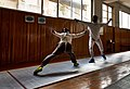 Advance lunge by Agapitos Papadimitriou and counter attack by Stamatis Koutsouflakis.jpg