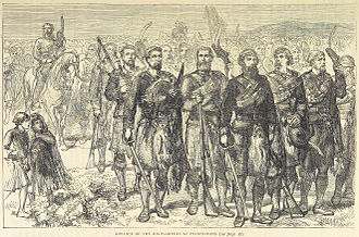 Battle of Prestonpans - The Jacobite Highlanders advance, from an 1873 book
