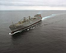 Aerial port bow view of the Watson class large medium-speed RO-RO ship USNS Pomeroy (T-AKR 316).jpg