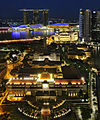 Aerial view of Parliament House, Singapore, at night - 20110319.jpg