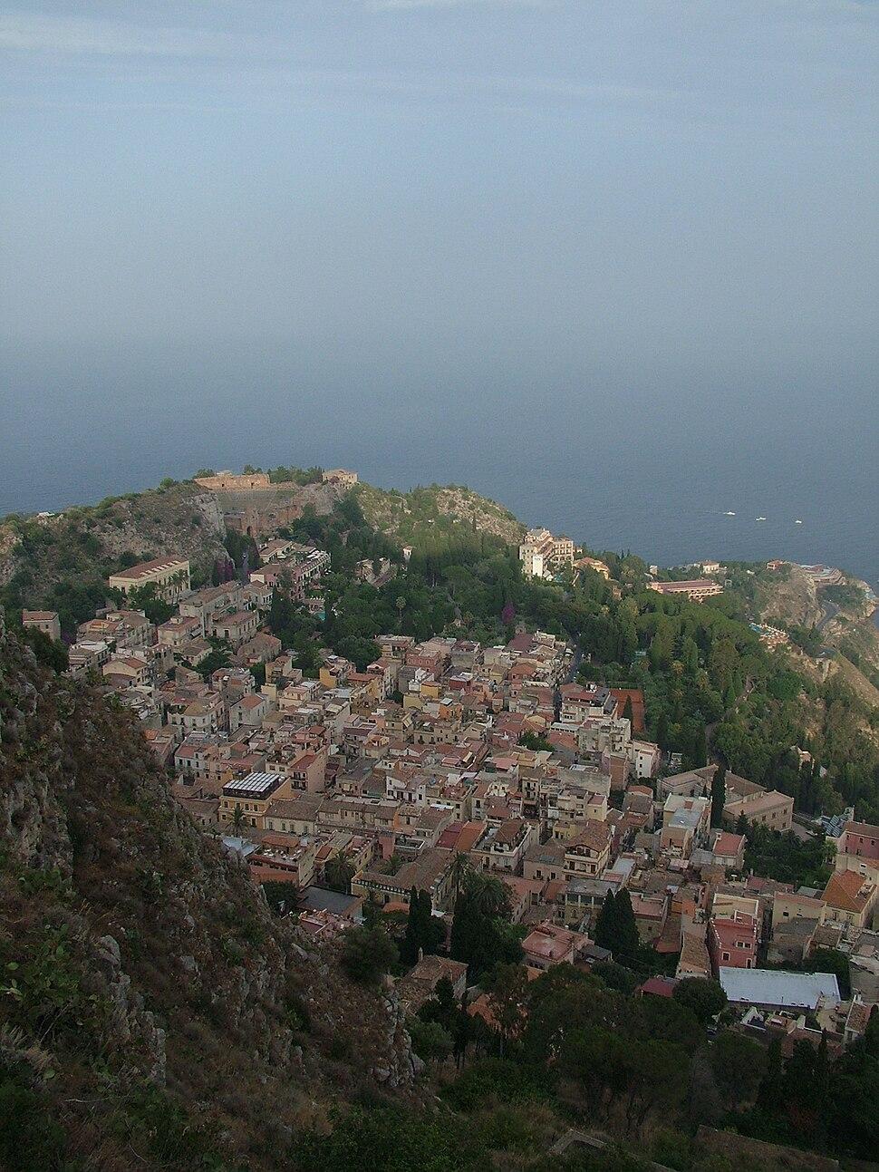Aerial view of Taormina