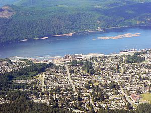 Port Alberni - Aerial view of Port Alberni