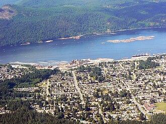 Port Alberni - Aerial view of Port Alberni
