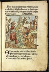 aesopus moralisatus 1485 - Asop Lebenslauf
