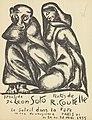 Afiche de la exposición de Adalberto de León Soto y René Coutelle, grupo Soleil dans la tête, París, 28 de mayo de 1955.jpg