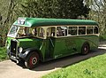 Agatha Christie Bus Tour bus (AHL 694) 1947 Leyland Tiger PS1 Barnaby, 12 April 2011.jpg
