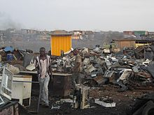 Essay Term Paper The Ewaste Centre Of Agbogbloshie Ghana Where Electronic Waste Is Burnt  And Disassembled With No Safety Or Environmental Considerations Political Science Essay also Thesis For An Essay Electronic Waste  Wikipedia Essay Topics For High School English