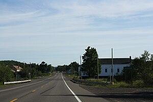 Ahmeek, Michigan - Sign on US 41