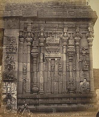 Ahobila Matha - Narasimha temple, Ahobilam (Photo taken in 1875).