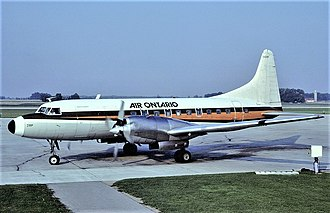 Great Lakes Airlines (Canada) - Convair 580 with Great Lakes Airlines cheatline in 1983