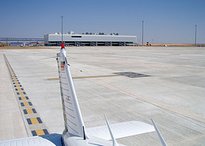 Ciudad Real Central Airport - The apron and terminal building