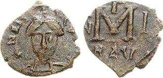 Aistulf - A follis of Aistulf
