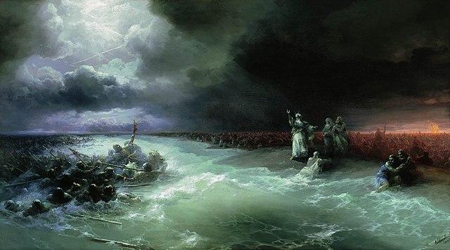 Переход евреев через Красное море. И.К.Айвазовский. 1891