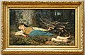 Albert Anker, ragazzina addormentata nel bosco, 1865.jpg