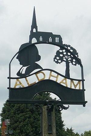 Aldham, Essex - The village sign