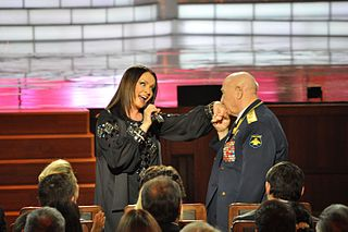 Alexei Leonov and Sofia Rotaru during a gala ceremony.jpg