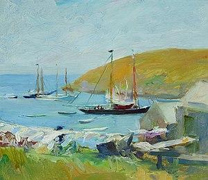 Alice Kent Stoddard - Monhegan Island Harbor Looking Toward Manana, 1910, The Monhegan Museum, Maine