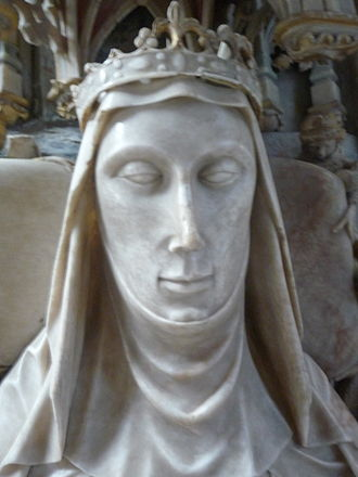 Alice Chaucer, Duchess of Suffolk - Alice de la Pole, detail from her effigy in Ewelme Church, Oxfordshire